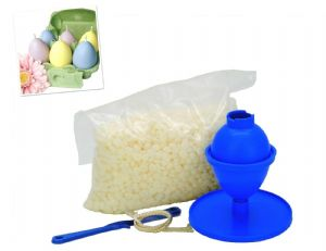 Candle Making Kit, Easter Egg Mould,  240g Kerawax 4105 Paraffin Wax, Wick Holder & 1m of Wick S7832